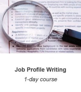 Job Profile Writing training course